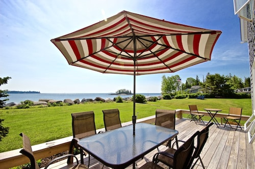 Sitting on Crescent Beach, a Traditional, Comfortable Summer House