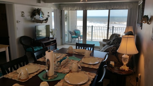 Oceanfront Condo W/ Private Beach, Heated Pool - Best View - 2 Bedroom & 1 Bath