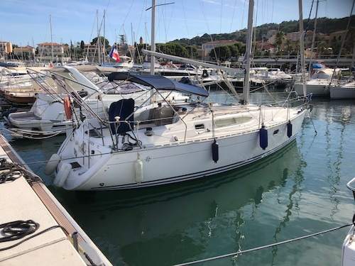 Beautiful Sailboat in Saint Jean Cap Ferrat French Riviera Between Nice and Monaco