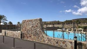 Et oppvarmet basseng