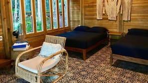 Caja fuerte, decoración individual, mobiliario individual y ropa de cama