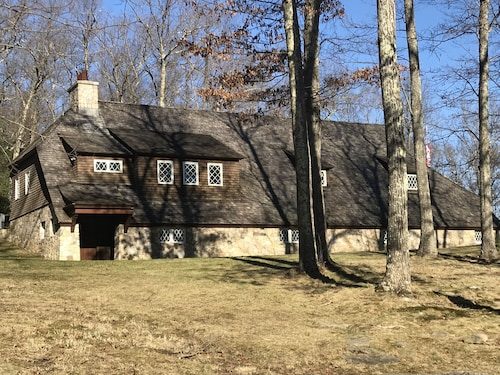 Carriage House on 44 Private Acres. Amazing old World Stone Work & Sweeping Lawn