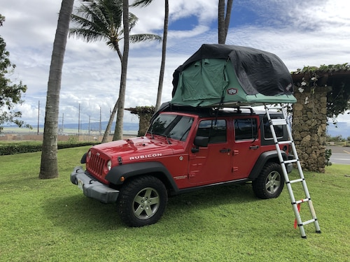 Jeep Wrangler Rubicon 4x4 it is the Ultimate Pop-up Adventure Camper. Sleep 2