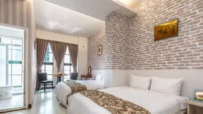 設計自成一格、家具佈置各有特色、窗簾、免費 Wi-Fi