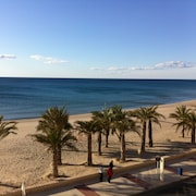 Beachfront Flat for 2 Pers, Only 10 Meters From the Beach Alicante
