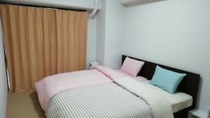 2 間臥室、熨斗/熨衫板、免費 Wi-Fi、床單
