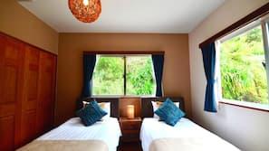 5 Schlafzimmer, Daunenbettdecken, kostenloses WLAN, Bettwäsche
