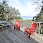 Traverse City Lake Michigan Priv Beachfront Home Rent Sunday to Sunday