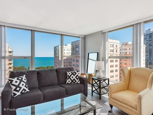 New! 2BR Panoramic Apt With Lake Michigan Views by Domio