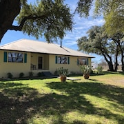 Llano River Frontage House in Small Town Roosevelt, TX
