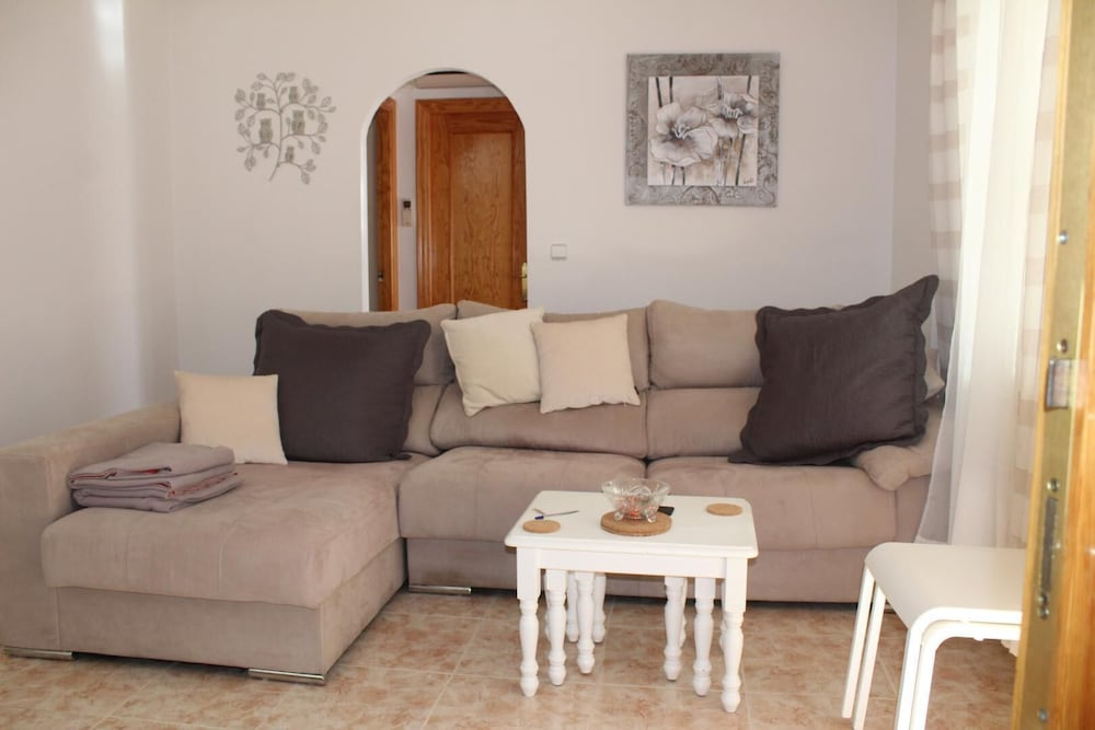 Living Room, Playa Flamenca, 2 Bedroom Bungalow With Communal Pool