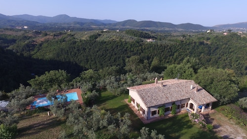 Relaxing Villa Near Rome With Pool and Spectacular Views Over Sabina Countryside