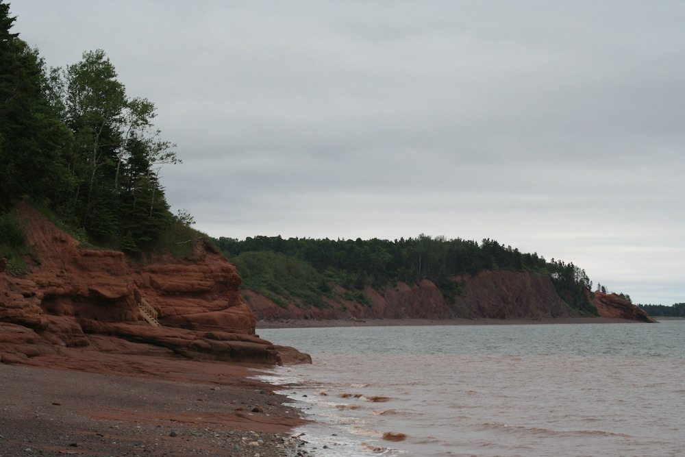 Beach, Hiking on Economy Mountain, Strolling the Beach in the Cliffs of Fundy Geopark