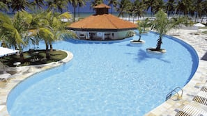 2 outdoor pools, open 7:00 AM to 6:00 PM, pool loungers