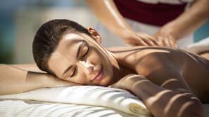 Sauna, spa tub, steam room, massages