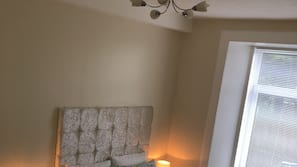 2 bedrooms, pillow top beds, iron/ironing board, free WiFi