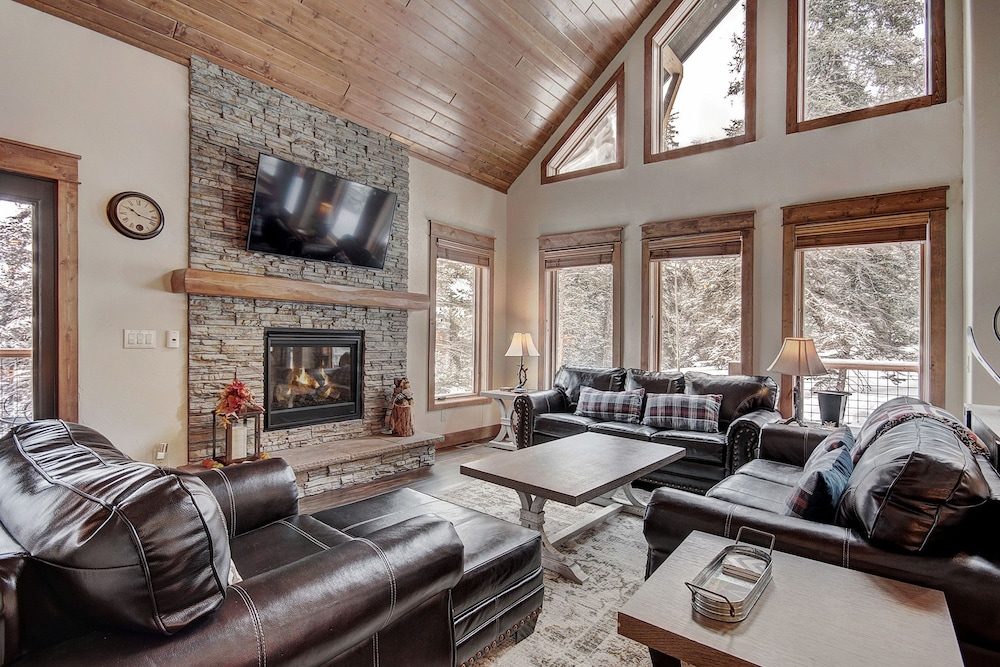 Living Room, Keystone Resort Lodge 661, Heated Garage, Private Laundry, 5 Bedroom by Summitcove Lodging
