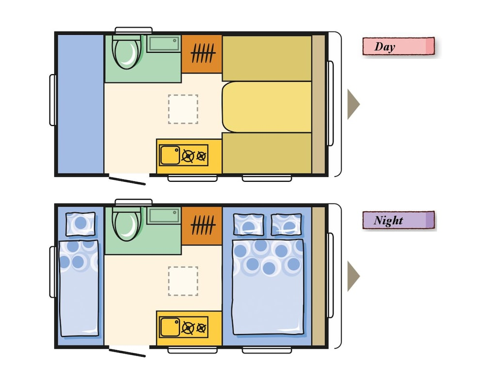 Floor plan, Trailer Hotel SORAUMI