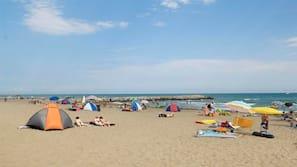 On the beach, beach massages, beach volleyball, beach bar