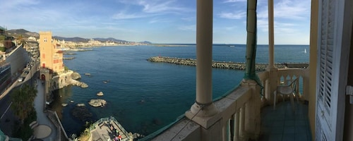 Apartment With 2 Bedrooms in Genova, With Wonderful sea View, Furnished Balcony and Wifi - 200 m From the Beach