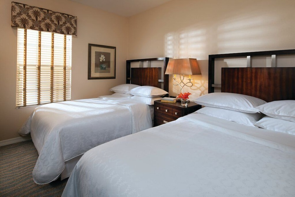disney sheraton vistana resort sleeps 8 two bedroom , two bathroom full villa in orlando | best
