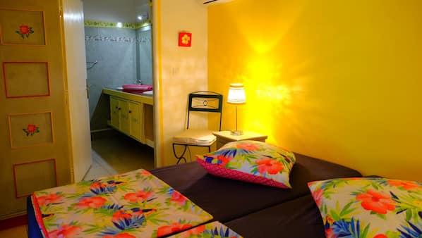 2 chambres, accès Internet, draps fournis