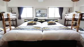 1 bedroom, desk, laptop workspace, blackout curtains