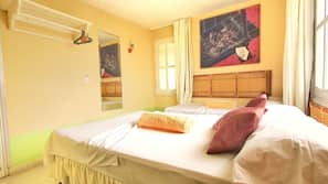 1 bedroom, hypo-allergenic bedding, down duvets, in-room safe
