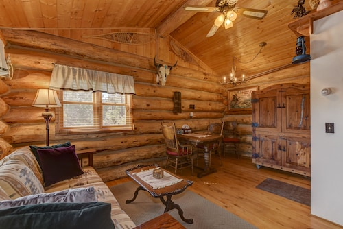 Cozy, Quiet and Unique Log Cabin w/ Mtn View : 4 mi to Downtown