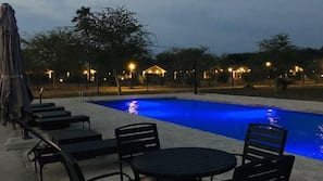 Outdoor pool, open 10:00 AM to 5:30 PM, sun loungers