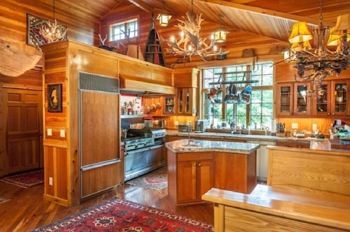 Adirondack Great Camp Style Home on Beautiful Blue Mountain Lake