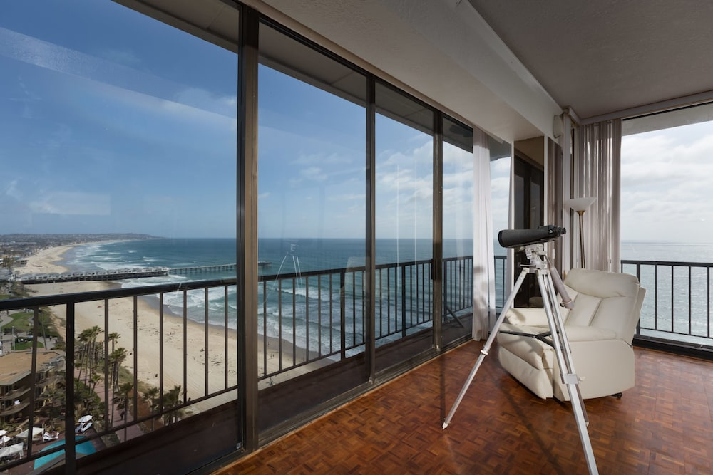Balcony, 3-bedroom Capri by the Sea Ocean View Penthouse at Beautiful Pacific Beach
