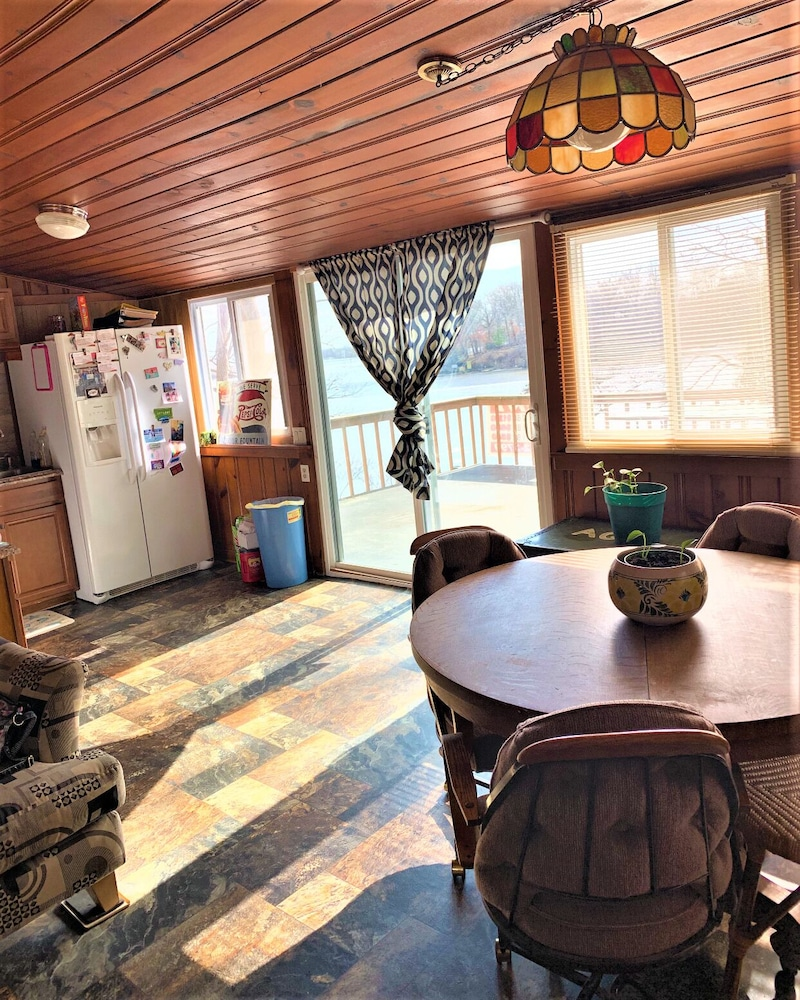 "Private Kitchen, ""Indiana Beach Rentals"" on Shafer Lake, <br>Monticello, Indiana. Boat rental avail<br>"
