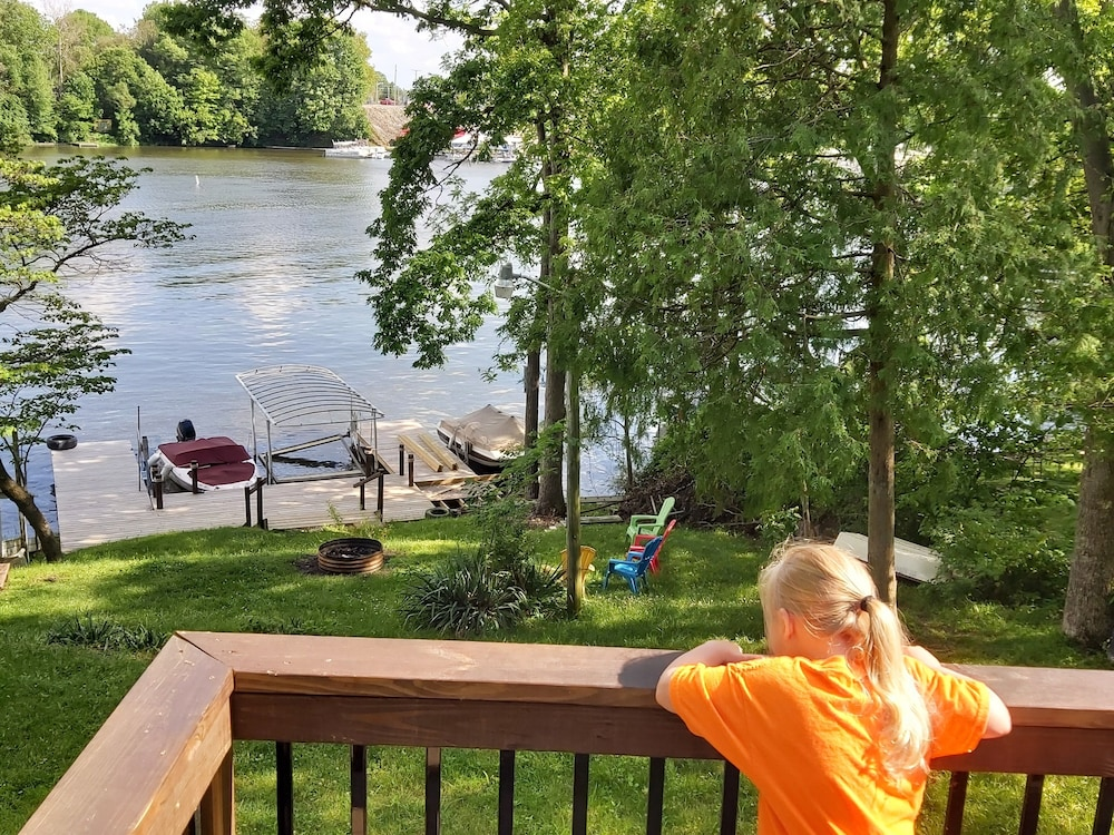"Balcony, ""Indiana Beach Rentals"" on Shafer Lake, <br>Monticello, Indiana. Boat rental avail<br>"