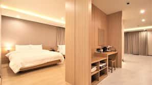 Premium bedding, soundproofing, free WiFi, linens