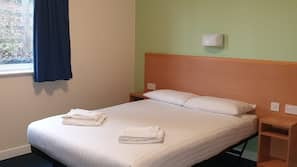 Blackout curtains, free WiFi, bed sheets, wheelchair access