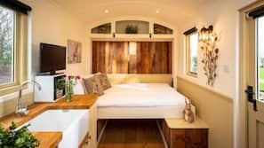 1 Schlafzimmer, hochwertige Bettwaren, Bettwäsche