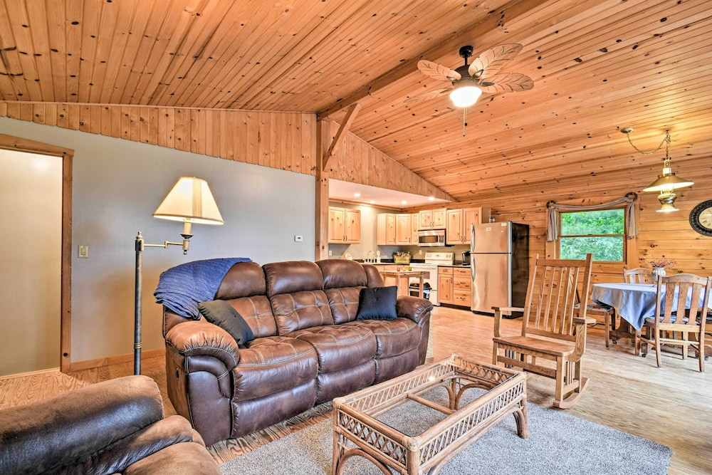 Living Room, Cozy Amish Country Cabin on Shipshewana Lake!