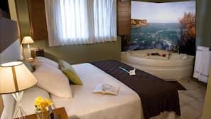2 dormitorios, caja fuerte, tabla de planchar con plancha