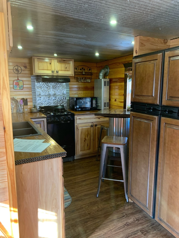Private Kitchen, Secluded Ozarks Cabin in Eminence, MO at Old Desperado Ranch