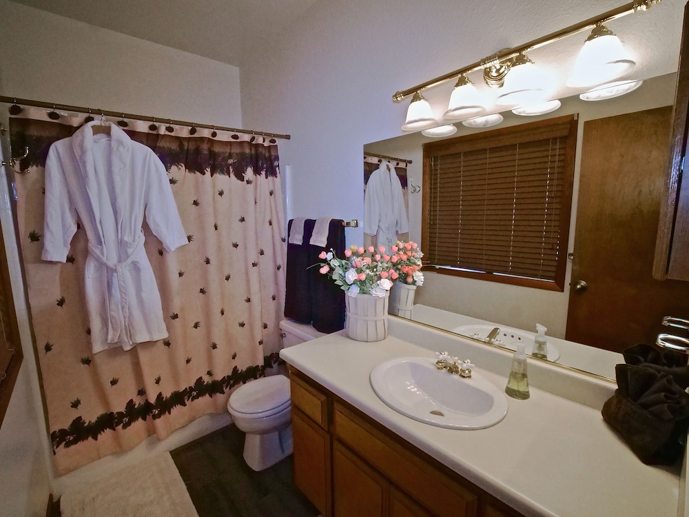 Bathroom, New!!the Lodge: Family/pet Friendly, Fenced Yard, Walk to Town, Nearby Creek