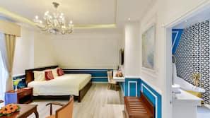 Down comforters, minibar, free WiFi