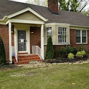 Location! Spa Bath, Porch Swing, Fireplaces, Fenced big Yard, Secure Parking