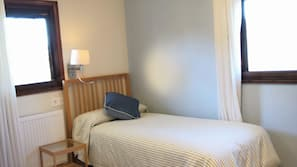 Blackout curtains, free cots/infant beds, free WiFi, linens
