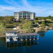 Waterfront Condo and Private Marina With Panoramic Lake Travis Views and Cove