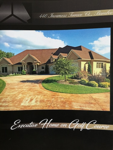 Executive Home Located on Baraboo Country Club Golf Course