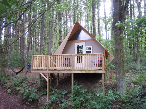 The Duck Nest Glamping Cabin at Dragonfly Lake New Listing