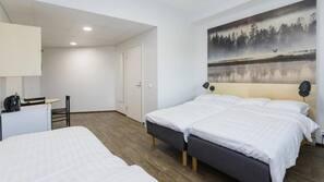 1 makuuhuone, työpöytä, ilmainen Wi-Fi, vuodevaatteet