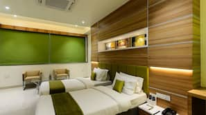 Premium bedding, soundproofing, rollaway beds, free WiFi
