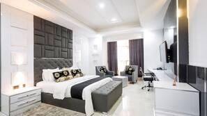 Egyptian cotton sheets, premium bedding, down duvets, Tempur-Pedic beds
